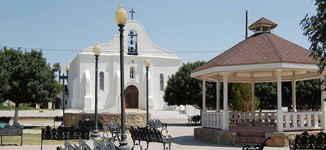 San Elizario Church Square