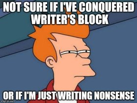 Writers Block Meme