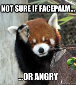Facepalm or Angry meme