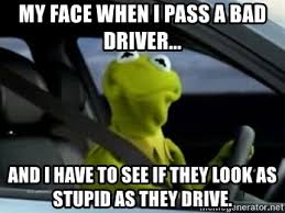 Kermit bad driver face