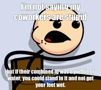 Dumb coworker meme