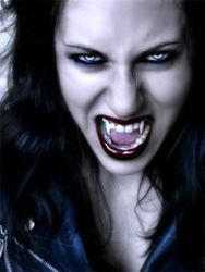 Female Vamp Wicked Smile