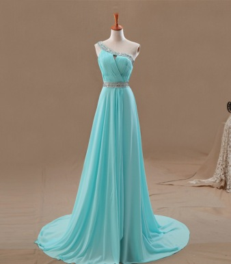 Tiffany Blue gown