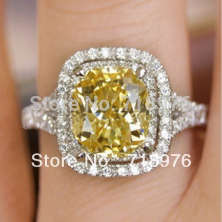 Dr. Lyn's ugly Piss Yellow engagement ring