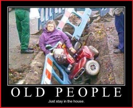 Old Lady Scooter In Ditch meme