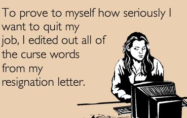 Quitting job meme