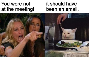 Smudge meeting meme